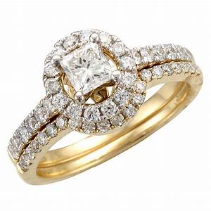 Gold wedding ring sets for bride and groom k white gold ct for Wedding ring bride