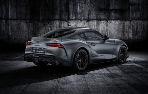 2020 Toyota Supra Phone Wallpaper by Wallpaper White Coupe Back Toyota Supra The Fifth