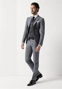 Costume Pour Homme Mariage : costume gris mariage costume de mari gris avec gilet pour homme jean de sey mariage ~ Melissatoandfro.com Idées de Décoration
