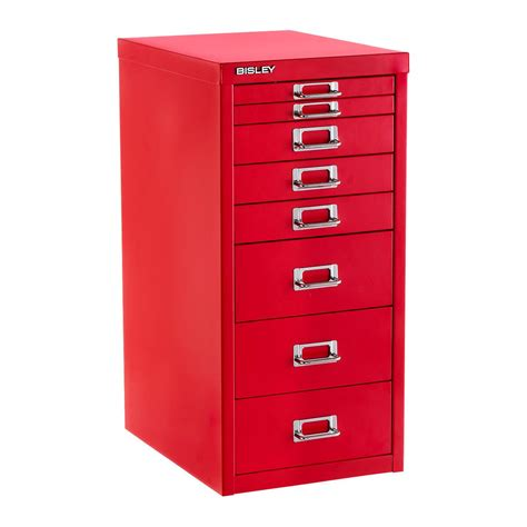 Bisley Red 8Drawer Collection Cabinet  The Container Store