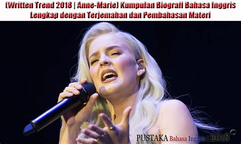 Written Trend Anne Marie Kumpulan Biografi Bahasa