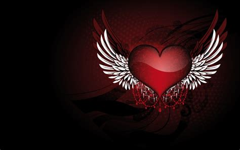 angel heart wallpaper abstrakt fantasie herz hd wallpapers
