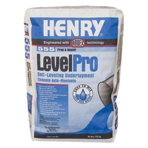 henry 555 level pro 40 lb self leveling underlayment