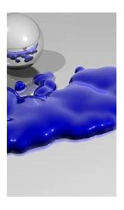 Silver Spheres Separated By Blue Paint 3d Wallpaper ...