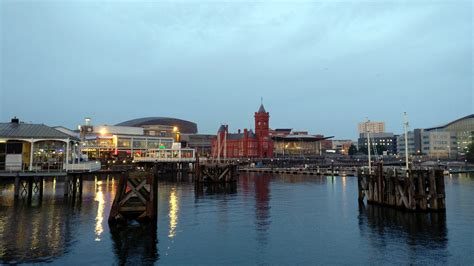 cardiff bay waterfront wales visions  travel