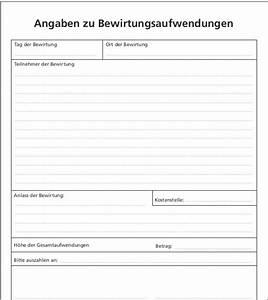 bewirtungsbeleg formular zum sofort download With bewirtungsbeleg vorlage