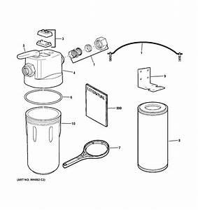 Ge Model Gxwh40l Water Filter Genuine Parts