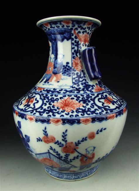 Pink Vase by Antique B W Pink Colored Porcelain Vase With Boys