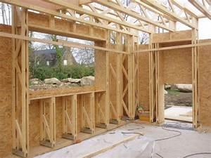 Epaisseur Mur Ossature Bois : mur maison ossature bois boismaison ~ Melissatoandfro.com Idées de Décoration