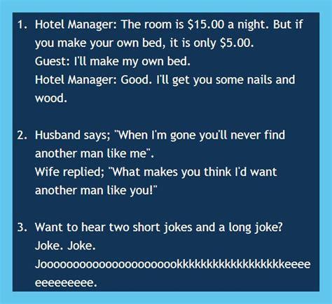 short jokes humor funny  short jokes short