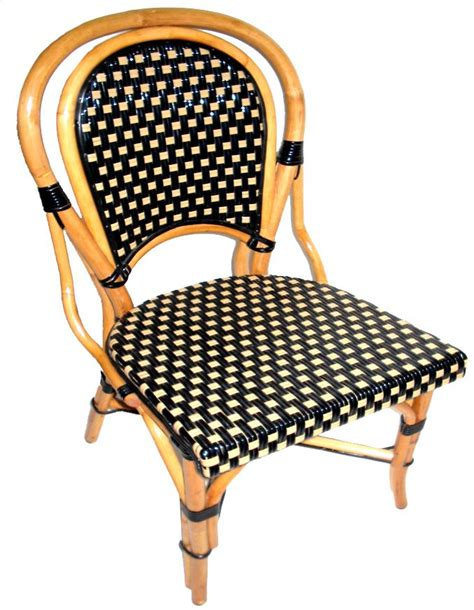 bistro rattan side chair also nothing