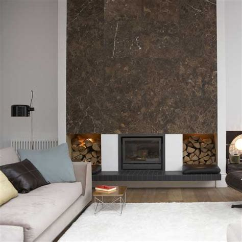dramatic fireplace ideal home