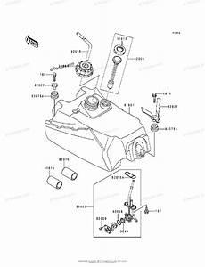 Kawasaki Atv 1988 Oem Parts Diagram For Fuel Tank