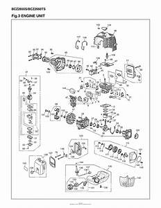Red Max Bcz2650s 10 S  N 00100101  U0026 Up Parts Diagram For