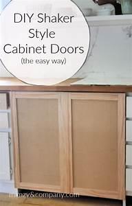 Diy Shaker Cabinet Doors The Easy Way   U2022 Mimzy  U0026 Company