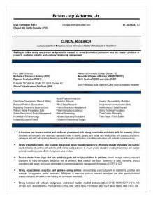 resume summary for clinical research associate august research resume