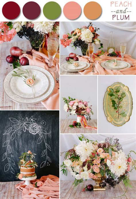 wedding color schemes for fall fall wedding color palette ideas 2014 trends
