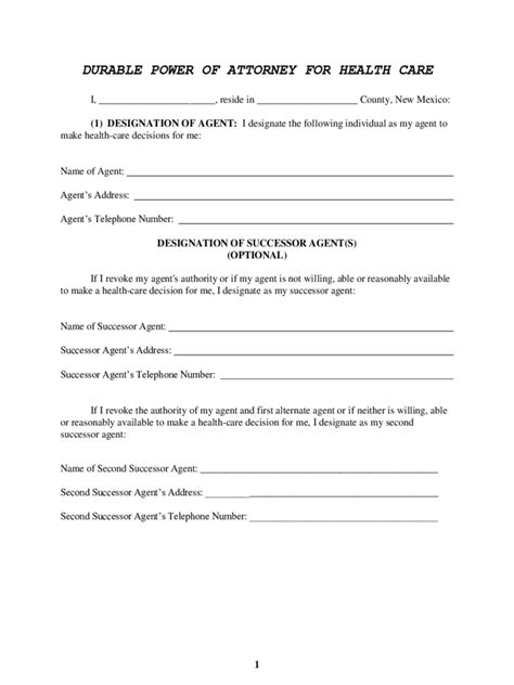 mexico power  attorney form  templates