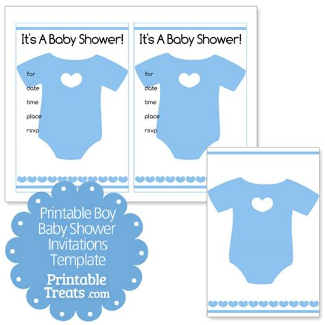 Printable Baby Boy Shower Invitations Template Printable Printable Baby Boy Shower Invitations Template Printable