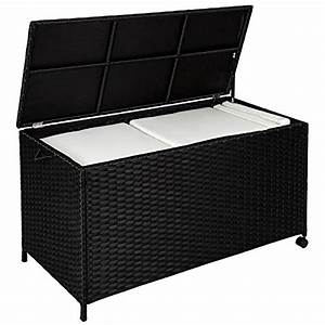 tectake aluminium rattan cushion box garden storage chest With katzennetz balkon mit garden storage box