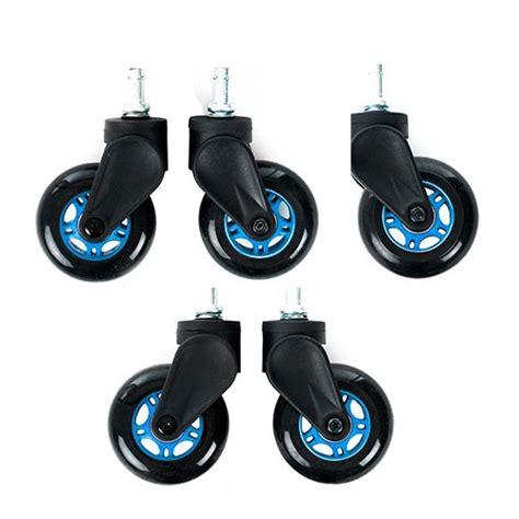 roulettes pour siege rameur dxracer blade wheels bleu autres accessoires jeu