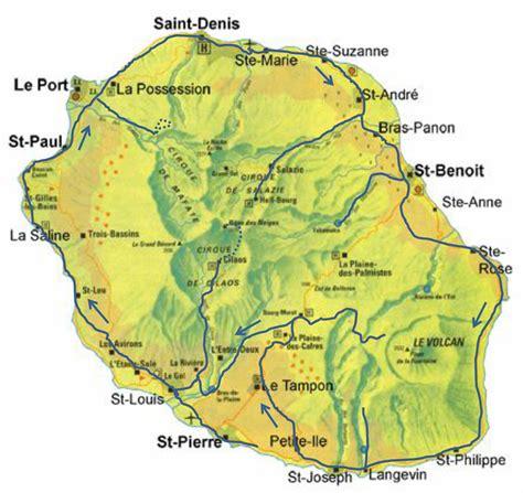 Karte La Reunion