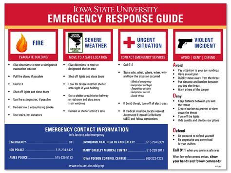 iowa state university emergency response