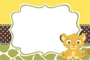 baby shower invitations baby lion king shower and mini cake table