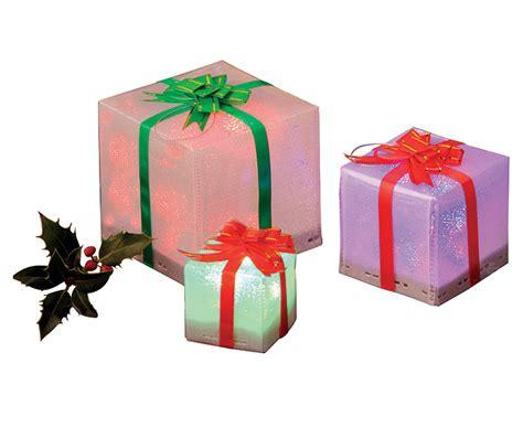 gift box design led colour changing lights set of 3