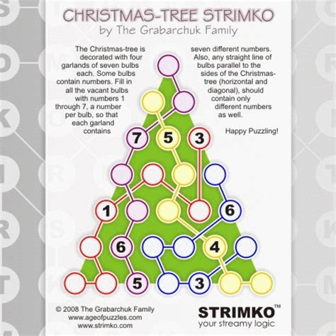 christmas tree math tree serhiy grabarchuk here is a strimko inspired