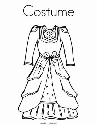 Vestidos Colorear Coloring Costume Dibujos Colorir Vestido