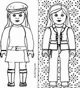 Coloring Doll American Pages Printable Colouring Grace Isabelle Kit Julie Print Getcolorings Ing Getdrawings Wondrous Improved Colorings sketch template