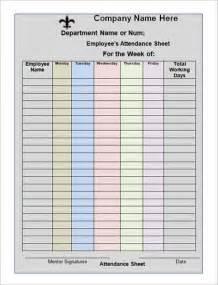 Meeting Attendance Sheet Template