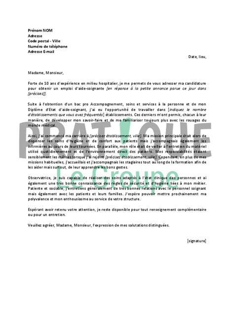 lettre de motivation pour aide de cuisine lettre de motivation type pour un emploi d 39 aide soignante