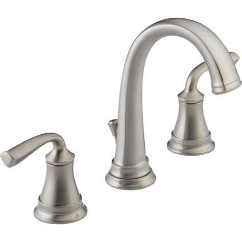 kitchen sink faucets lowes shop delta lorain stainless 2 handle widespread watersense