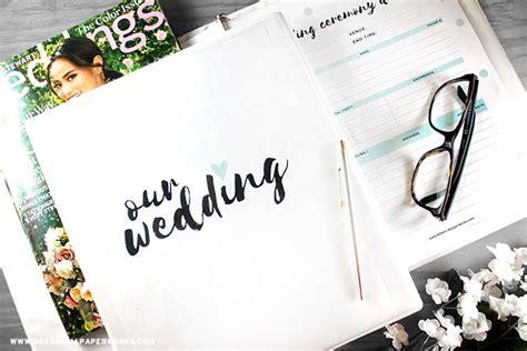 printables wedding planning binder blog