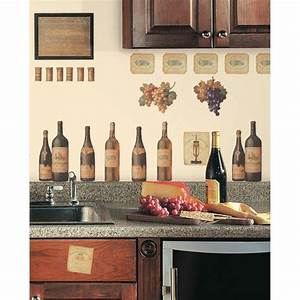deco murale cuisine ou comment rendre sa cuisine plus belle With kitchen cabinets lowes with wall art wine theme