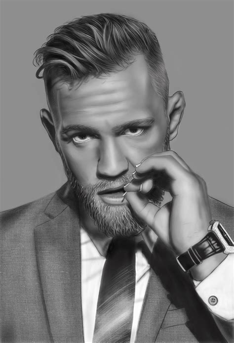 the notorious one conor mcgregor photoshop sketch art