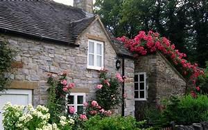 English Manor garden scenery wallpaper 4 - Landscape ...