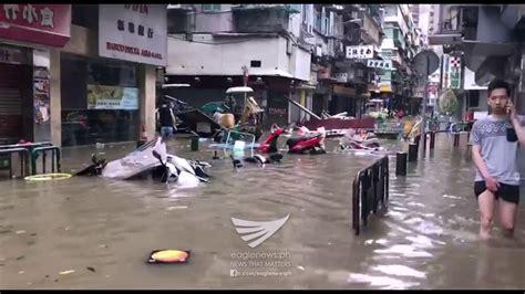 video effects  typhoon hato  macau