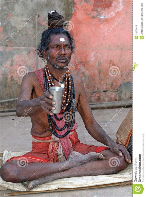 indian sadhu editorial stock photo image  india ochre