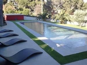 Decoration De Piscine : photos d coration de piscine rectangulaire plage et ~ Zukunftsfamilie.com Idées de Décoration
