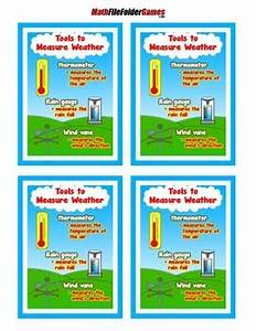 Rain Gauge Chart Tools To Measure Weather Poster Anchor Chart With Cards
