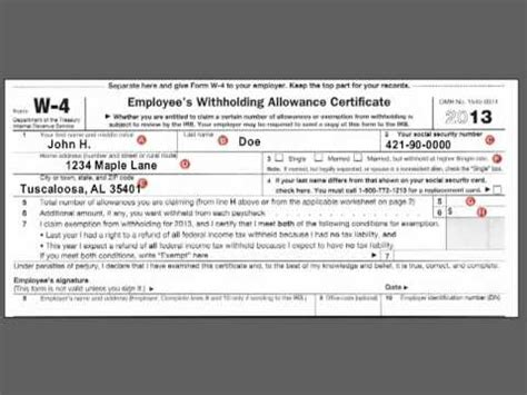 complete  federal   income tax withholding