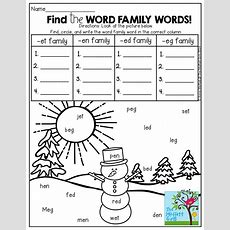 Find The Hidden Word Family Words And Write Them In The Correct Column! So Many Fun Printables