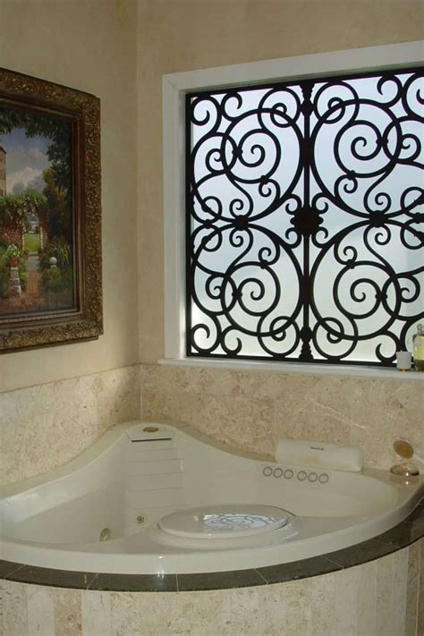 Bathroom With Corner Jacuzzi And Wrought Iron Window. Removable Walls For Basement. Wood Flooring Basement. Is It Healthy To Live In A Basement. Water Under Basement Floor. Putting Up Walls In Basement. Best Concrete Floor Paint Basement. Connecticut Dry Basement. Basement Waterproof