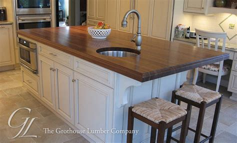 kitchen island with different countertop large walnut wood countertop kitchen island in new jersey 8243