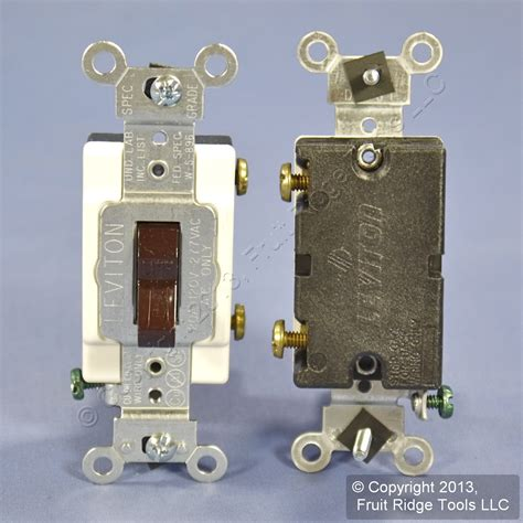 5 leviton brown commercial toggle wall light switches 20a