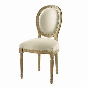 Chaise Tolix Maison Du Monde : affordable chaise mdaillon en lin et chne massif with chaise metal maison du monde ~ Melissatoandfro.com Idées de Décoration