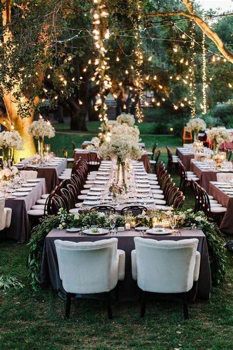 yard wedding reception